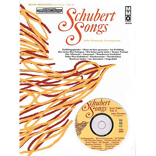 (Schubert Songs (Low Voice Vol. 2) Music Minus One Series Softcover with CD by Franz Schubert Pack of 2 )