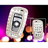 cover bag holder - YIKA BMW Diamond key shell Car Key Case Cover Holder Pouch Remote Key Chains Key Bag For BMW keyless remote control Smart Key 1/2/3/4/5/6/M/X SERIES