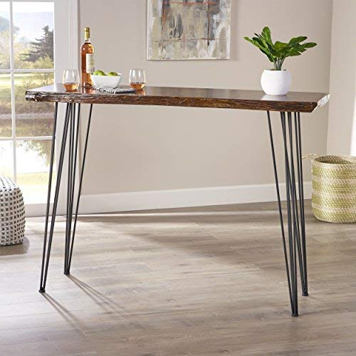 Aneissa Industrial Faux Live Edge Rectangular Bar Table, Natural by Christopher Knight Home (Image #9)