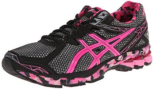 ASICS Men's GT-1000 3 PR Running Shoe,Black/Hot Pink/Pink Ri