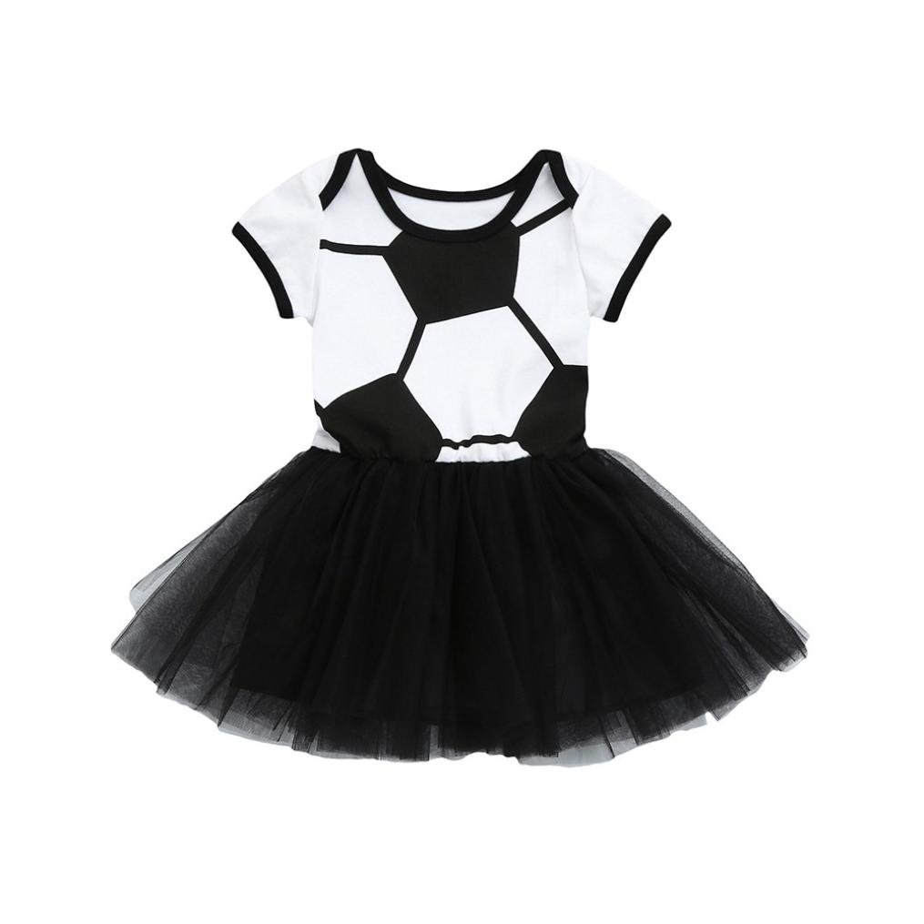 Subfamily Children's Clothing Vestido de tutú de tutú para bebés y niñas, diseño de fútbol, ideal para verano