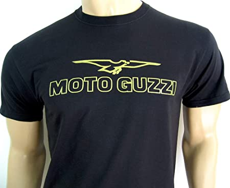 2e090d3788 golden era Moto Guzzi logo T-Shirt in black - size LARGE (40 to 42