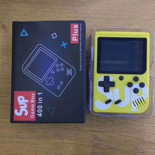 Leaysoo Retro Mini FC Nostalgic Game Machine SUP Built-in 400 in 1 Handheld Game Console,Yellow (Psp Chess)