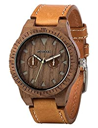 WEWOOD Men's Leo Leather Nut US Walnut Leather Watch