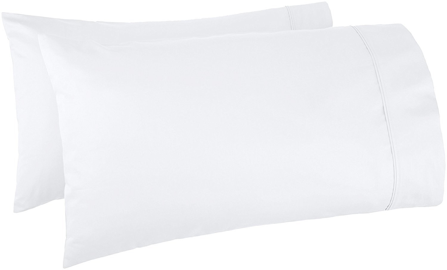 Thread Spread 100% Egyptian Cotton 1000 Thread Count Ultra Soft Pillow Case Set - Durable and Silky Soft (Standard Pillowcase) (White)