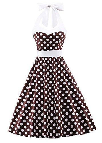 Vintage Brown Polka Dot - 3