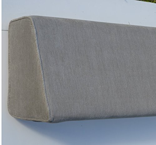 Wedge Bolster Cover (Linen Navy Blue) by DQP (Image #2)