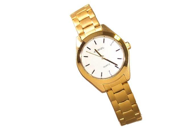 Auriol® Mujer Reloj De Pulsera - Caja y correa en acero acabado: Amazon.es: Relojes