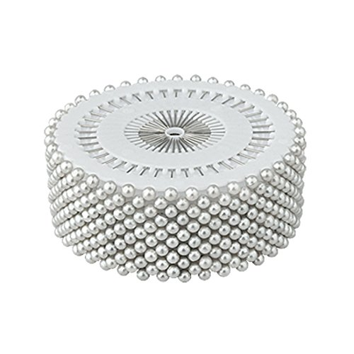 Metal Floral Pin (uxcell Round Pearl Decorative 3mm Manmade Straight Head Pins 1.5 Inch Long 480 Pcs)