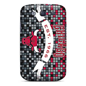 Scratch Protection Hard Phone Cases For Samsung Galaxy S3 (Duj7282AFbO) Support Personal Customs Fashion Chicago Bulls Skin