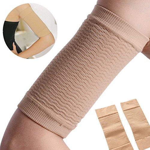OUYAWEI 2 Pcs Women Weight Loss Thin Arm Fat Slimmer Wrap Elasticity Belt Arms Sleeve Women Health Care ()