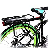 loukou Universal Adjustable Bicycle Carrier Rack Bike Rear Rack Cycling Luggage Cargo Mount Racks Shelf Bracket