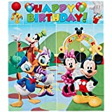 American Greetings Mickey Mouse Scene Setter Wall Decorations, 5-Count