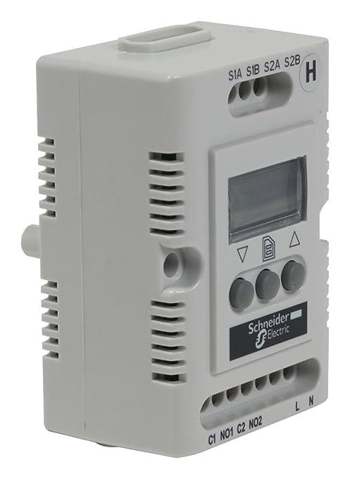Schneider Electric NSYCCOHY230VID Climasys Cc, Higrostato Electrónico, 200...240 V, H .R. 20...80%, Pantalla Oled: Amazon.es: Industria, empresas y ciencia