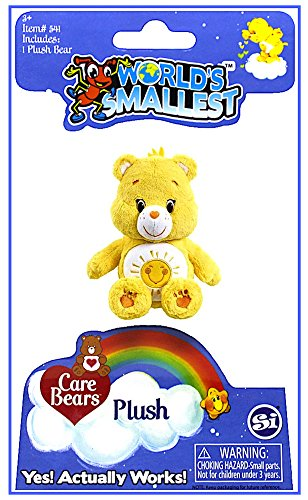 (Worlds Smallest Care Bear Funshine Bear Plush)