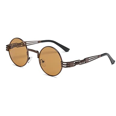 c2155335360 OverDose Ins Hot Unisex Women Men Gothic Steampunk Sunglasses Metal Frame  Round Shades Sunglasses( 1)  Amazon.co.uk  Clothing