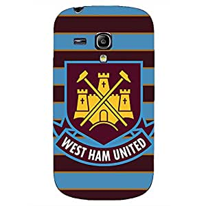 West Ham United FC Logo Phone Case for Samsung Galaxy S3 Mini 3D Black Slip On Cover