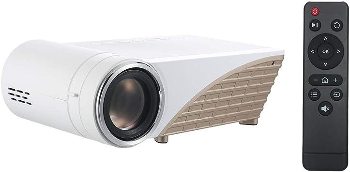 Opinión sobre Tidyard S6 Proyector LED LCD 1080P Home Theater 170 ANSI Lumen 1280 * 720P HD IN VGA AV USB 16: 9/4: 3 Reproductor Multimedia con Control Remoto para computadora portátil Reproductor de DVD