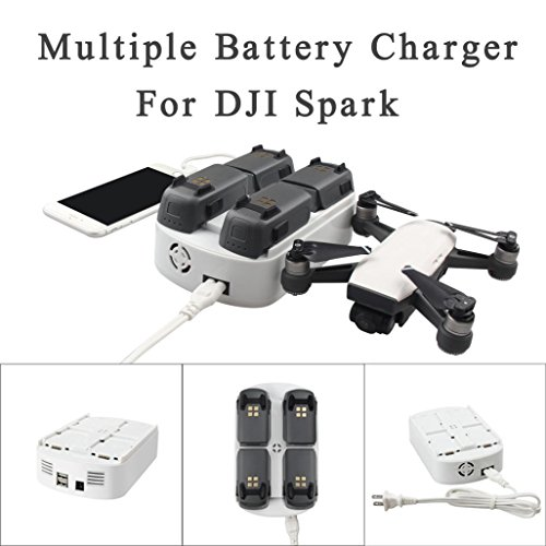Creazy RCGEEK 6 In 1 Updated Multiple Battery Charger Intelligent Flight Charging Hub