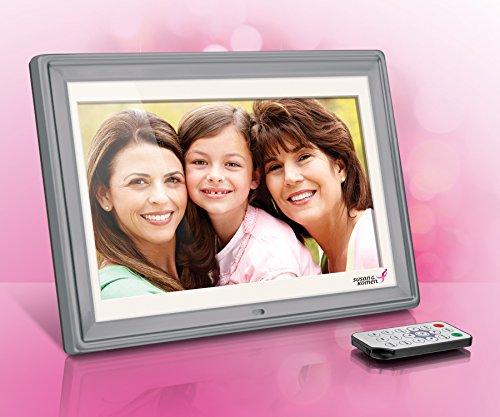 Aluratek ASGK410B 10'' Digital Photo Frame with 4GB Built-in Memory (Susan G. Komen) by Aluratek