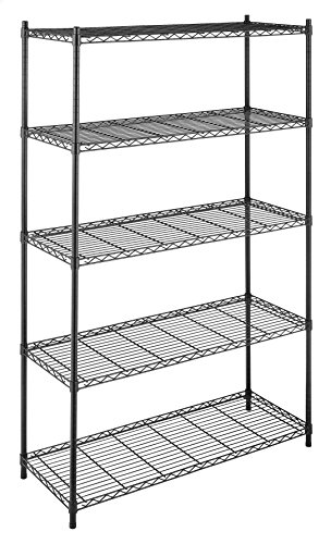 Whitmor Supreme 5 Tier Adjustable Shelving - 500 Pound Weight Capacity Per Shelf - Leveling Feet