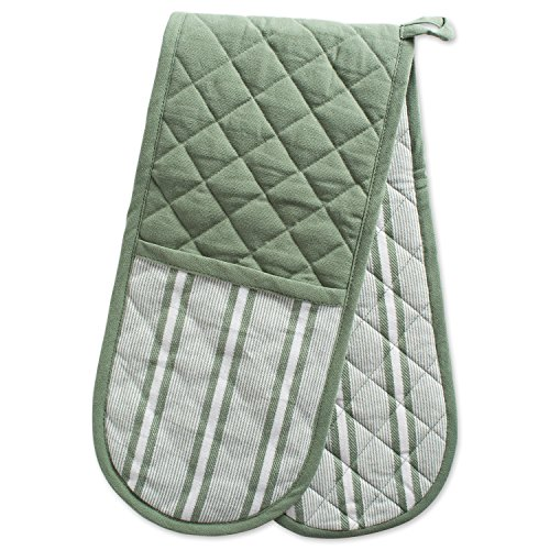 Lovers Pot Holder (DII Cotton Stripe Quilted Double Oven Mitt, 35 x 7.5