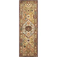 Safavieh Persian Legend Collection PL812A Handmade Traditional Red and Rust Wool Runner (26 x 12)