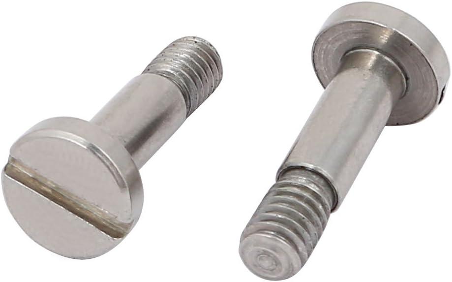 uxcell 5pcs 303 Stainless Steel Shoulder Screw 4mm Shoulder Dia 10mm Shoulder Length M4x6mm Thread