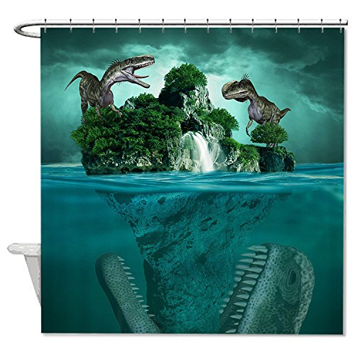 HANHAOKI Green Dinosaurs Home Decro Bath Shower Curtain for Kids 60