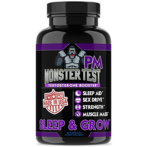 Angry Supplements Monster Test PM Testosterone Booster Plus Sleep Aid-Jack T-Levels All Natural Formula, Made in USA, Powerful Ingredients Boost Energy & Performance in The Gym and in The Bedroom. by Angry Supplements
