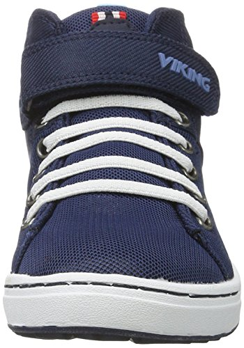 Viking Frogner 501 Baskets Navy White Mid Enfant Mixte Hautes Bleu varv1f