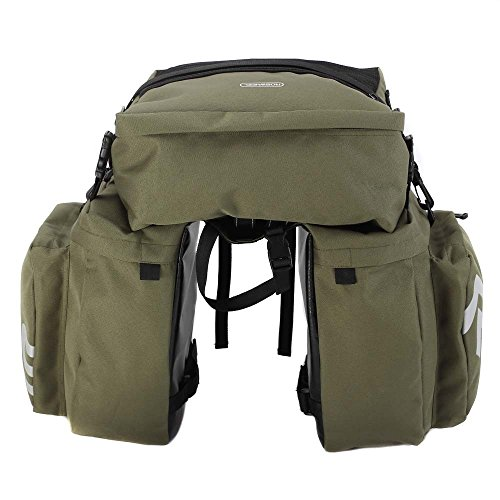 Bicycle Expedition Touring Cam Pannier Bicycle Carrier Bag Rear Rack Trunk 37L Bike Luggage Back Seat Pannier 3 Bags Cycling Saddle Storage Water-Resistant Bicycle Rack Pannier Bag Cargo Trunk Bag
