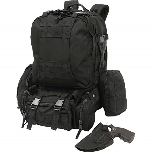 Extreme Pak™ 4 Piece Black Backpack with Concealed Handgun Holster by BF001