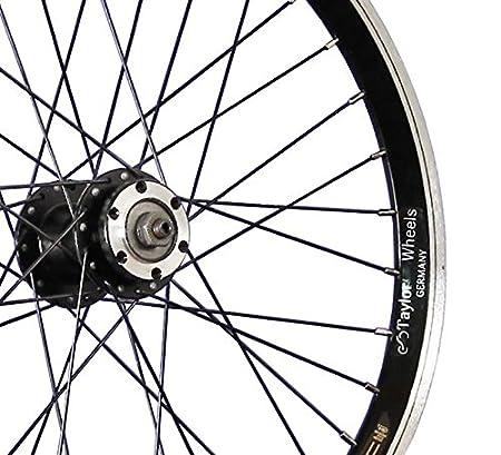 Taylor-Wheels 20 Pulgadas Rueda Delantera Bici Grünert Doble Pared Disco Negro: Amazon.es: Deportes y aire libre