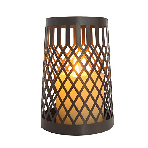 ELEGAN Modern Metal Wire Lace Jar Candle Sleeve,Tea Light Lantern. Ideal Gift ,Weddings, for Spa, Aromatherapy, home, Votive garden (Modern Scroll International Silver)
