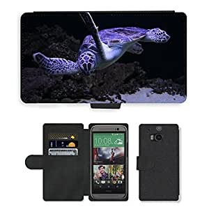 Super Stella Cell Phone Card Slot PU Leather Wallet Case // M00106707 Sea Turtles Turtle Animal // HTC One M8