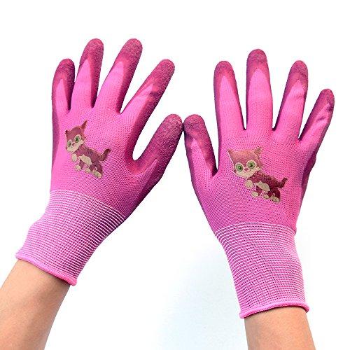 Children Gloves Gardening Work Gloves - PROMEDIX -Gardening Gloves for Children, Gloves for Teens 8-14 Years Old (Pink) (Glove Childrens Garden)