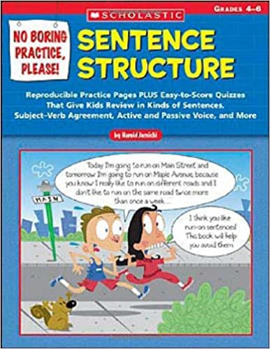 Workbook diagramming worksheets : No Boring Practice, Please! Sentence Structure: Reproducible ...