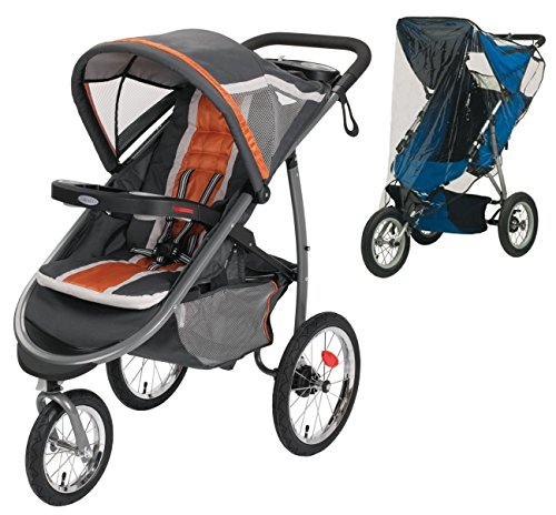 Graco FastAction Fold Jogger Click Connect Stroller with Weather Shield (Graco Jogger Weather Shield)