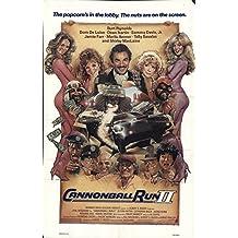 "Cannonball Run II 1984 Authentic 27"" x 41"" Original Movie Poster Burt Reynolds Comedy U.S. One Sheet"