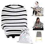 Nursing Breastfeeding Cover Scarf - Baby Car Seat Canopy (Multi-Use 4-1 Stretchy) - Shopping Cart - Stroller - Carseat Covers - Infinity Nursing Shawl for Boys and Girls - Newborn Registry Baby Shower Gift