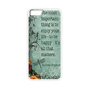 Audrey Hepburn Quote Personalized Cover Case with Hard Shell Protection for Iphone6 plus 5.5
