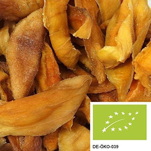 BIO Mango 1kg getrocknet, versandkostenfrei (in D), leckere Trockenfrüchte ungeschwefelt und ohne Zucker aus kbA