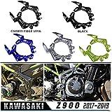 for Kawasaki Z900 2017 2018 2019 Left Right Frame Side Cover Cowl Panel Trim Body Fairing Cover Z 900 17 18 19 (Black)