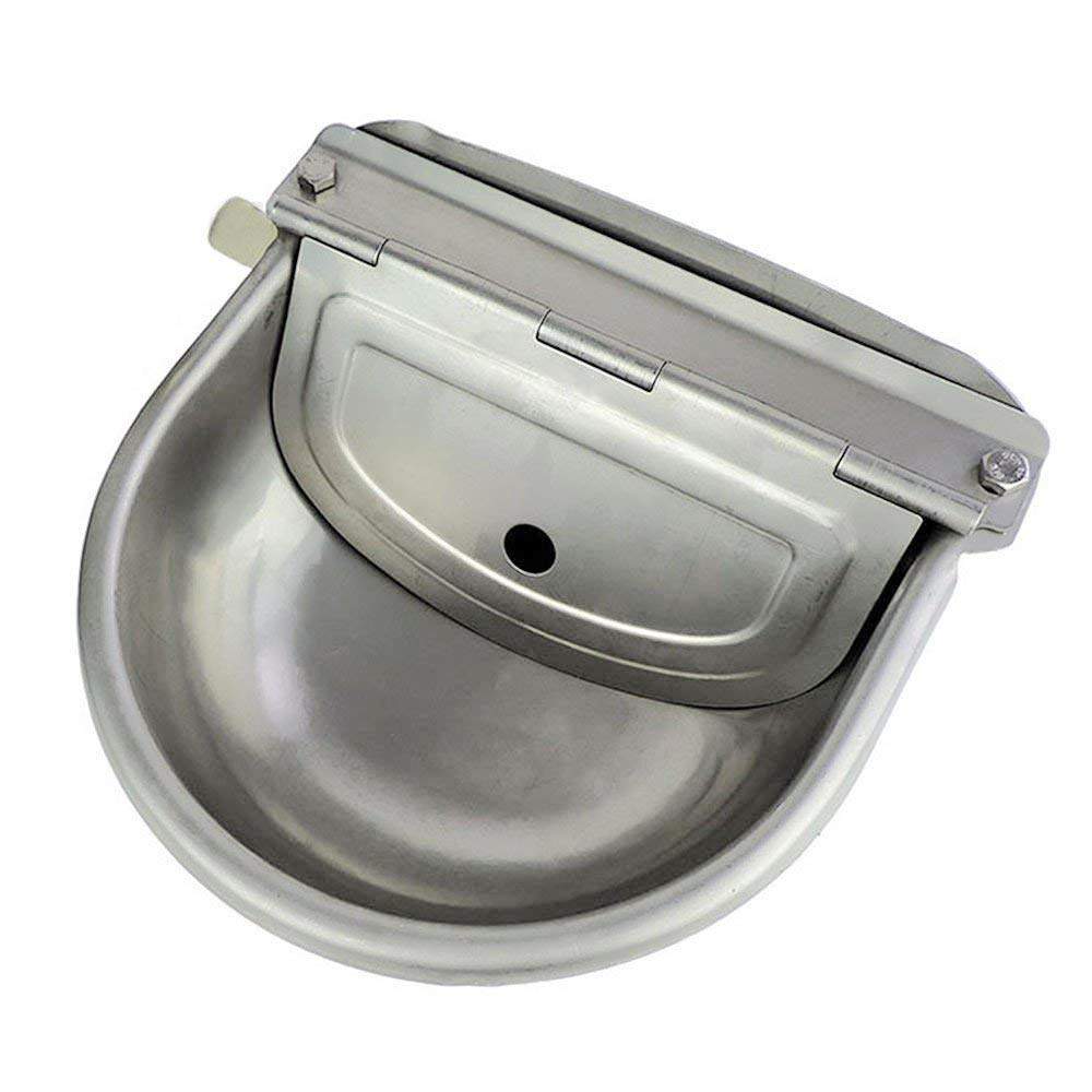 Automatic Stock Feeder Trough Bowl Dispenser Waterer for Pet Dog Horse Cattle Goat Sheep Water Stainless Steel Farm Tool Lucky Farm