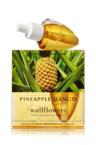 Bath and Body Works Pineapple Mango Wallflowers 2-Pack Refills Home Fragrance Bulbs (1.6 fl oz. Total) by Bath & Body Works