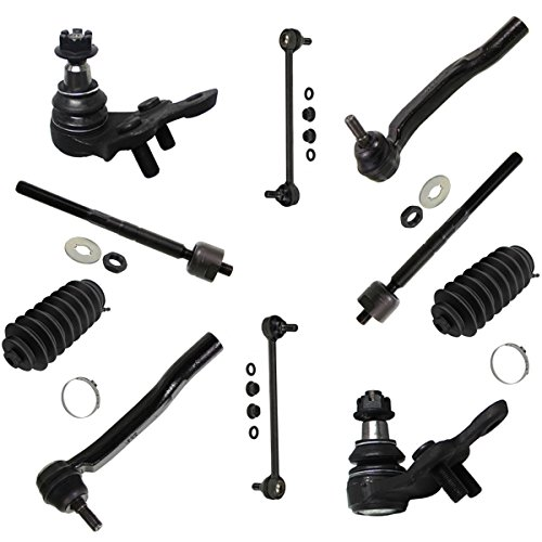 - Detroit Axle - New 10pc Kit: (2) Lower Ball Joints and All (4) Inner and Outer Tie Rod Links w/Rack Boots and (2) Sway Bar Links for [2004-2010 Toyota Sienna]