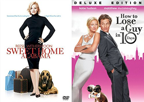 Romantic Comedy Bundle - Sweet Home Alabama & How to Lose a Guy in 10 Days 2-Movie Set (Reeses Candle)