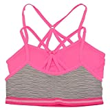 Sweet n Sassy Big Girls Neon Pink Cage Back Strappy 2 Pc Bra Pack S 30A