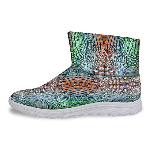 Snake U Gray FOR Skin Weather Women's Boots Cool Winter Print Snow Warm DESIGNS Cold TtxSqxwR